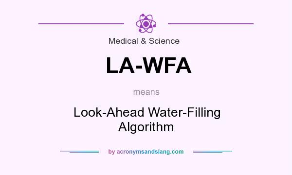 What does LA-WFA mean? It stands for Look-Ahead Water-Filling Algorithm