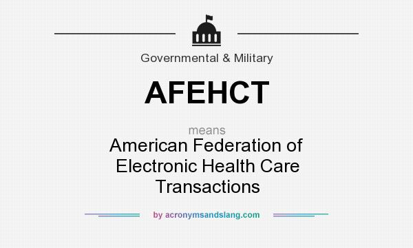 What does AFEHCT mean? It stands for American Federation of Electronic Health Care Transactions