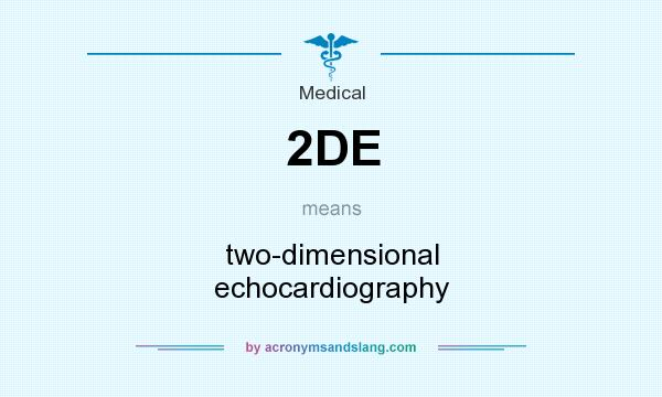 What does 2DE mean? It stands for two-dimensional echocardiography