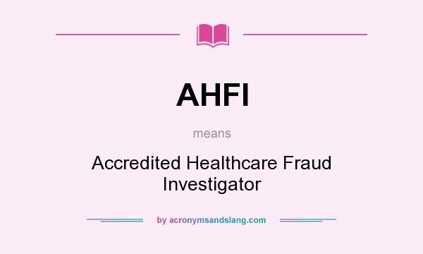 Healthcare fraud investigator