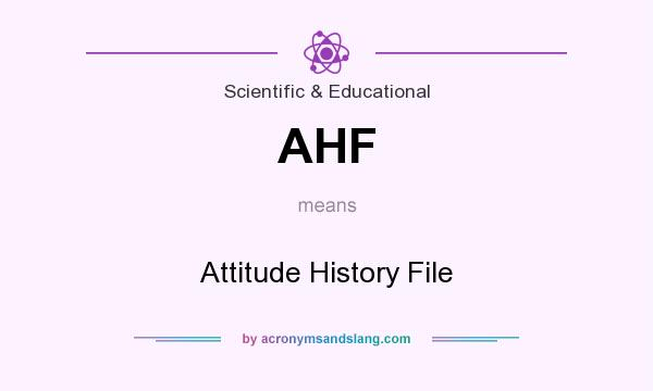 What does AHF mean? It stands for Attitude History File