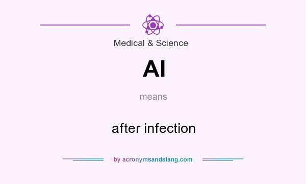 What does AI mean? It stands for after infection