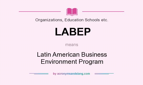 What does LABEP mean? It stands for Latin American Business Environment Program