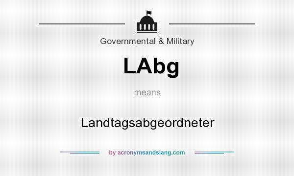 What does LAbg mean? It stands for Landtagsabgeordneter