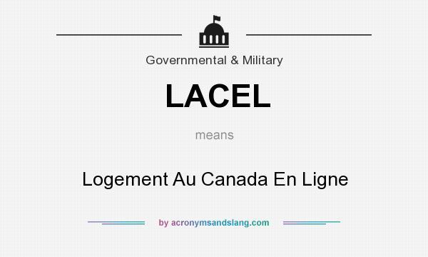 What does LACEL mean? It stands for Logement Au Canada En Ligne