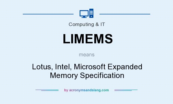 What does LIMEMS mean? It stands for Lotus, Intel, Microsoft Expanded Memory Specification