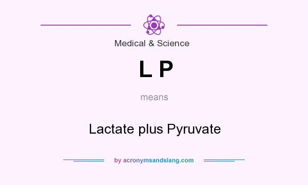 What does L P mean? It stands for Lactate plus Pyruvate