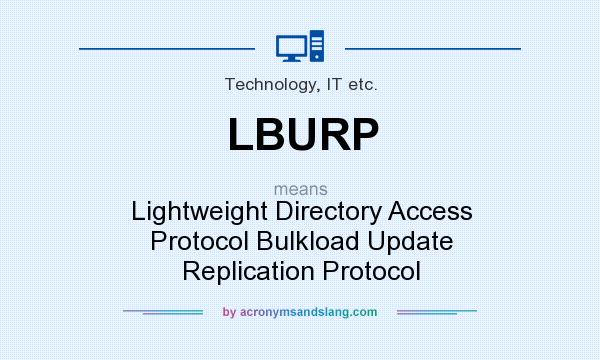 What does LBURP mean? It stands for Lightweight Directory Access Protocol Bulkload Update Replication Protocol