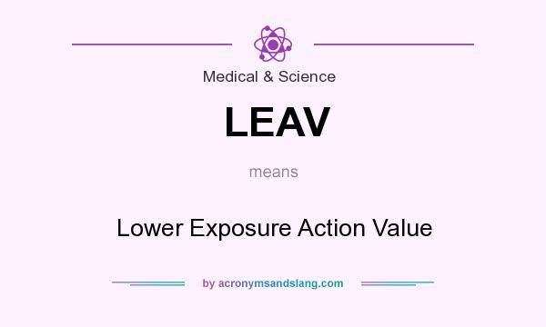 What does LEAV mean? It stands for Lower Exposure Action Value