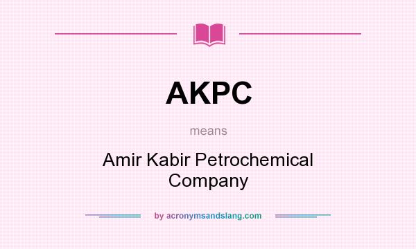 AKPC - Amir Kabir Petrochemical Company in Undefined by