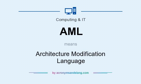 What does AML mean? It stands for Architecture Modification Language