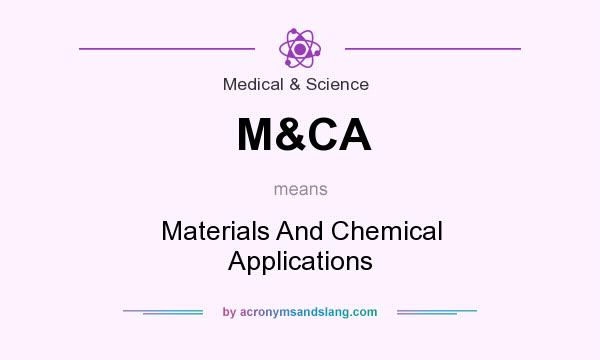 What does M&CA mean? It stands for Materials And Chemical Applications
