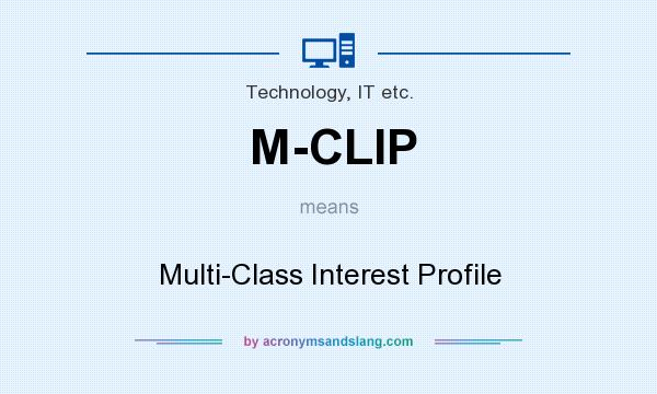 What does M-CLIP mean? It stands for Multi-Class Interest Profile
