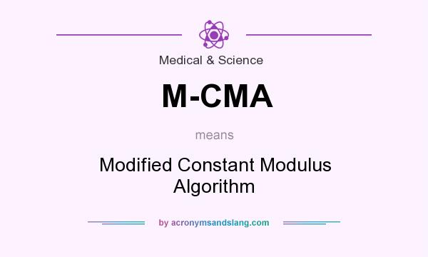 What does M-CMA mean? It stands for Modified Constant Modulus Algorithm