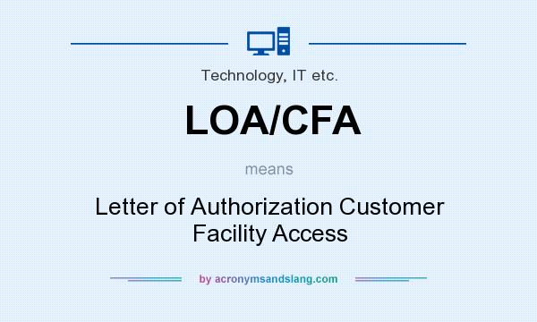 What Does LOA CFA Mean