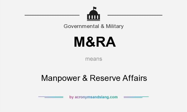 What does M&RA mean? It stands for Manpower & Reserve Affairs