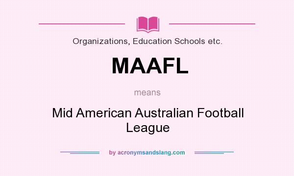 What does MAAFL mean? It stands for Mid American Australian Football League