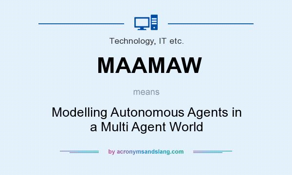 What does MAAMAW mean? It stands for Modelling Autonomous Agents in a Multi Agent World