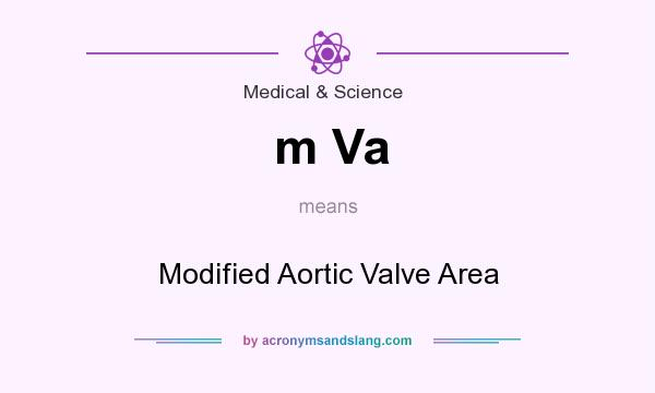 What does m Va mean? It stands for Modified Aortic Valve Area