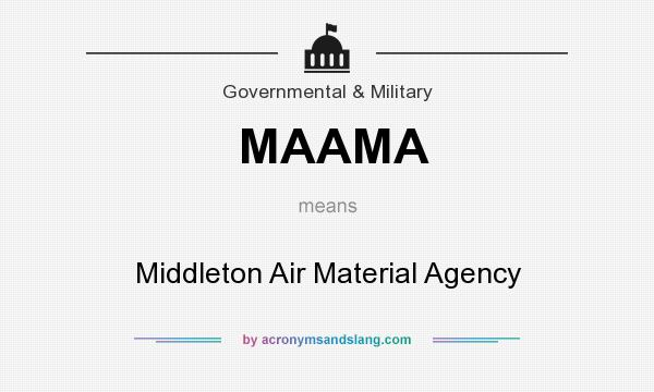 What does MAAMA mean? It stands for Middleton Air Material Agency