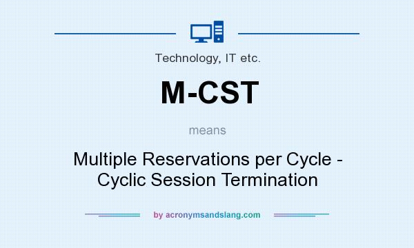 What does M-CST mean? It stands for Multiple Reservations per Cycle - Cyclic Session Termination