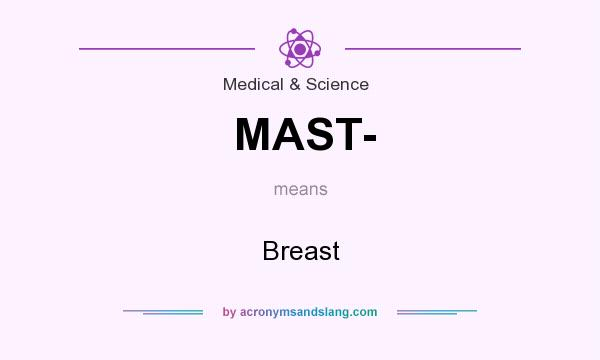 What does MAST- mean? It stands for Breast
