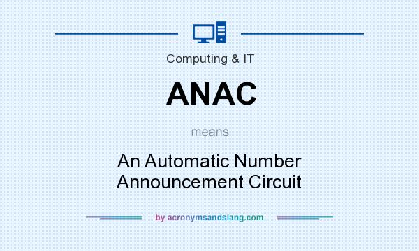 What does ANAC mean? It stands for An Automatic Number Announcement Circuit