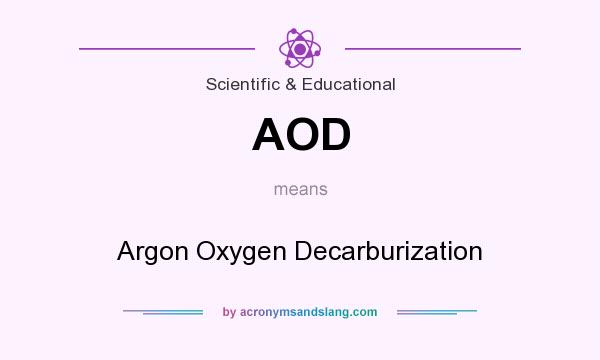 What does AOD mean? It stands for Argon Oxygen Decarburization