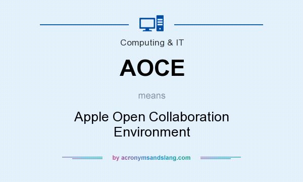 What does AOCE mean? It stands for Apple Open Collaboration Environment