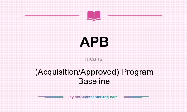 f104 ile acquisition program baseline And funding requirements described in the acquisition program baseline (apb) logistics, t&e (ile) (or other ongoing program risk assessment checklist d.