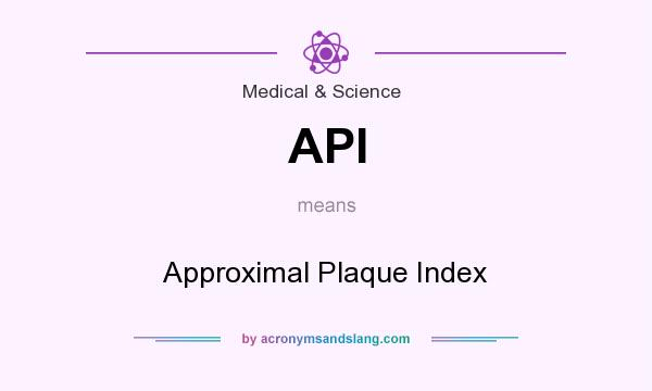 Api approximal plaque index in medical science by - Plaque de finition ...