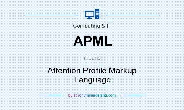 What does APML mean? It stands for Attention Profile Markup Language