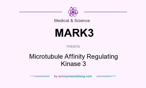What does MARK3 mean? It stands for Microtubule Affinity Regulating Kinase 3