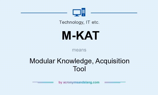 What does M-KAT mean? It stands for Modular Knowledge, Acquisition Tool