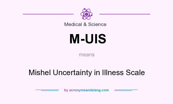 What does M-UIS mean? It stands for Mishel Uncertainty in Illness Scale