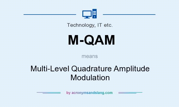 What does M-QAM mean? It stands for Multi-Level Quadrature Amplitude Modulation