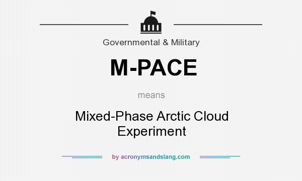 What does M-PACE mean? It stands for Mixed-Phase Arctic Cloud Experiment
