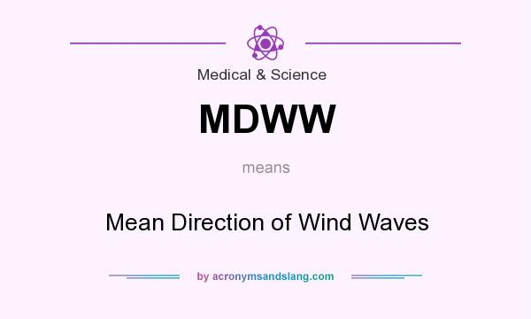 What does MDWW mean? It stands for Mean Direction of Wind Waves