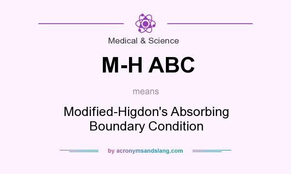 What does M-H ABC mean? It stands for Modified-Higdon`s Absorbing Boundary Condition