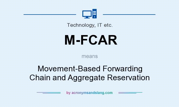 What does M-FCAR mean? It stands for Movement-Based Forwarding Chain and Aggregate Reservation