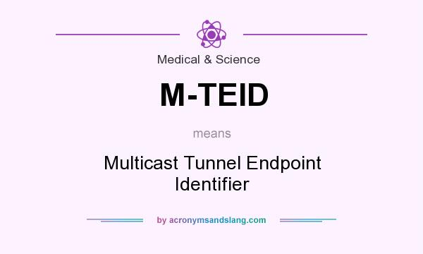 What does M-TEID mean? It stands for Multicast Tunnel Endpoint Identifier