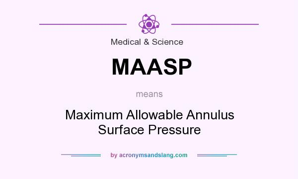 What does MAASP mean? It stands for Maximum Allowable Annulus Surface Pressure