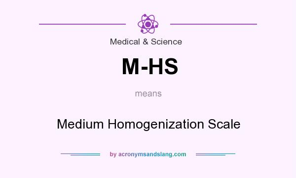 What does M-HS mean? It stands for Medium Homogenization Scale