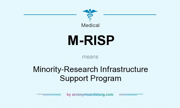 What does M-RISP mean? It stands for Minority-Research Infrastructure Support Program