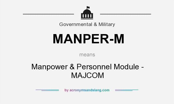 What does MANPER-M mean? It stands for Manpower & Personnel Module - MAJCOM