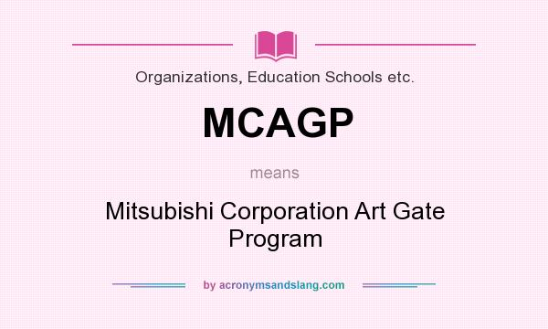 what does mcagp mean? - definition of mcagp - mcagp stands for