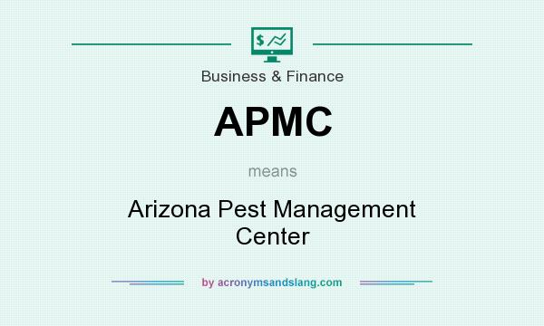 What does APMC mean? It stands for Arizona Pest Management Center
