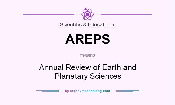 What does AREPS mean? It stands for Annual Review of Earth and Planetary Sciences