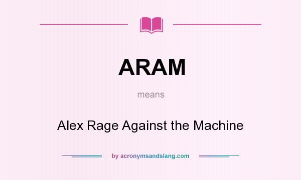 Aram Alex Rage Against The Machine In Undefined By
