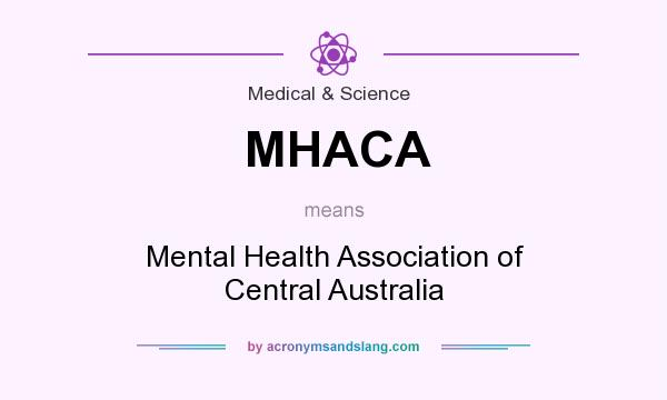 What does MHACA mean? It stands for Mental Health Association of Central Australia